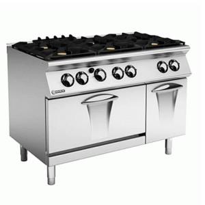 Επιδαπέδια κουζίνα με 6 εστίες και φούρνο υγρ. MARENO NC9FG12G52