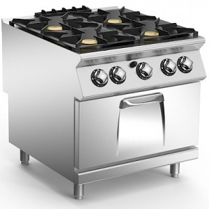Επιδαπέδια κουζίνα με 4 εστίες και φούρνο υγρ MARENO NC9FG8G32